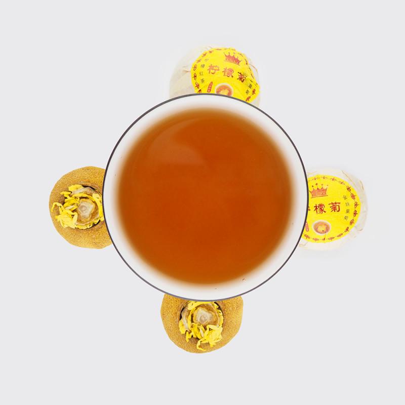 Чай с лимоном и хризантемой