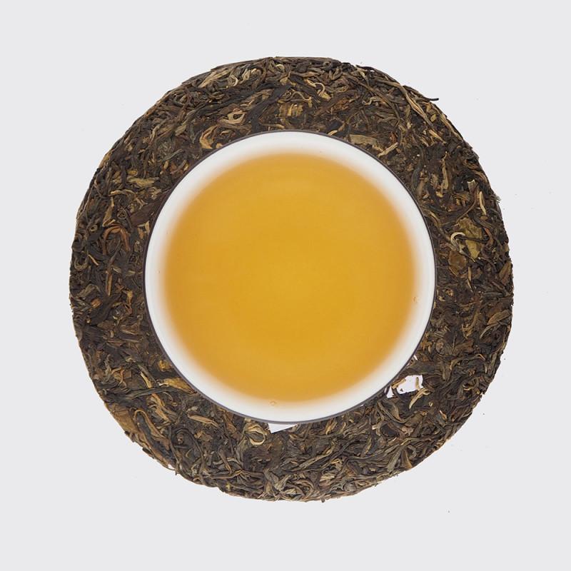 """Чай и блин шен пуэра """"Желтая печать"""""""