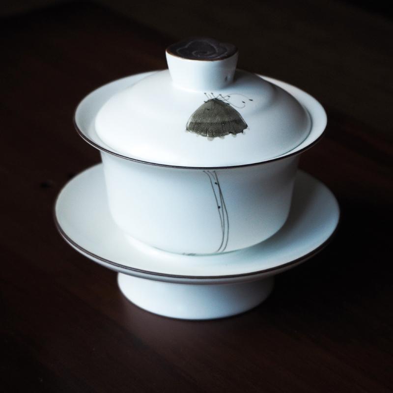 "Гайвань с рисунком бабочки (объем 150 мл) | ""Чайнотека"""