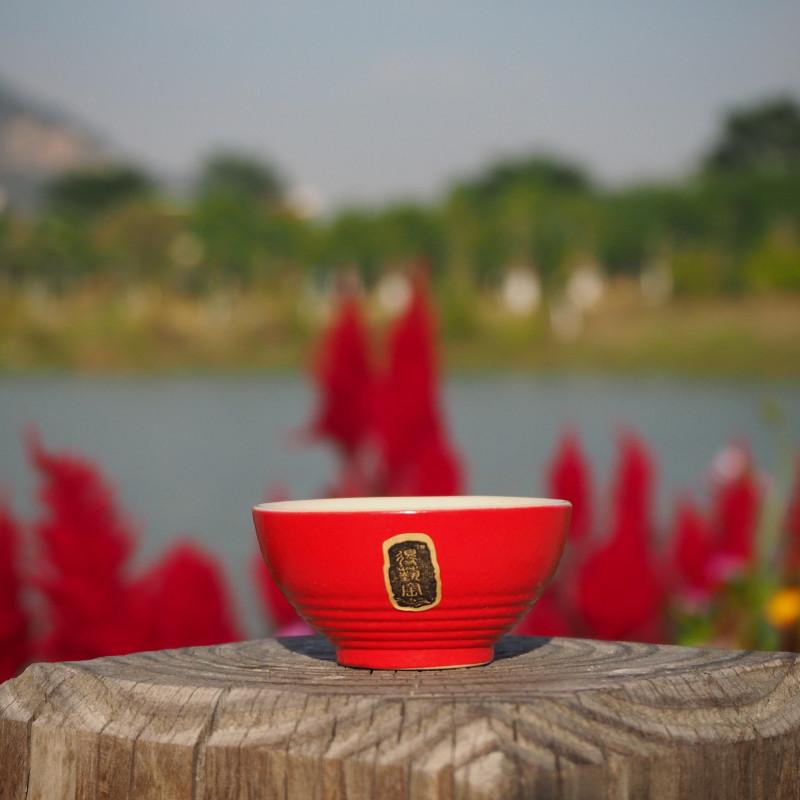 "Пиала для чая красная 40 мл | ""Чайнотека"""