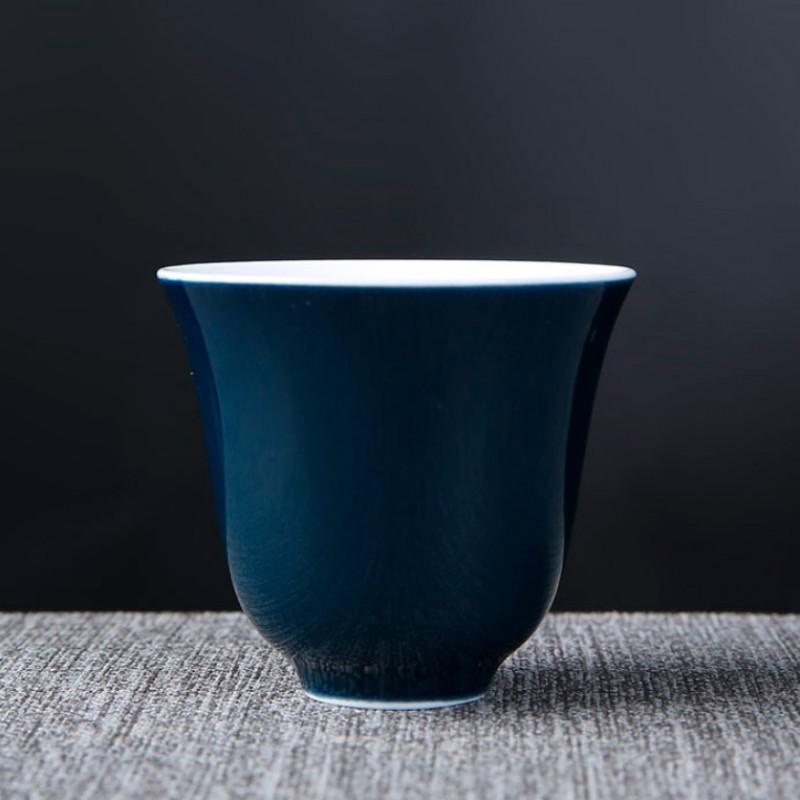 Пиала для чая темно-синяя объемом 50 мл  
